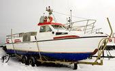 Boat in winter time — Stock Photo