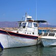 Fishing boats in the harbor (Crete, Greece) — Stock Photo #3983291