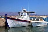 Fishing boats in the harbor (Crete, Greece) — Stock Photo