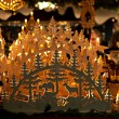 Chrismas candle decoration — Foto Stock