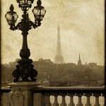 Lamppost on the bridge of Alexandre III in Paris, France — Stock Photo
