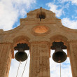 Bell tower of Arkadi's Monastery (Crete, Greece) - Stock Photo