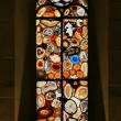 Stained-glass window in the Grossmunster (Zurich, Switzerland). — Stock Photo #4226550