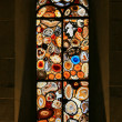 Stained-glass window in the Grossmunster (Zurich, Switzerland). — Stock Photo