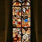 Stained-glass window in the Grossmunster (Zurich, Switzerland). — Stock Photo