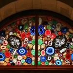 Stained-glass window in the Grossmunster (Zurich, Switzerland). — Stock Photo #4226562