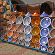 Colorful oriental pottery bazaar (Tunisia) — Stock Photo #4629927