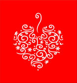 Filigree Heart on Red — Stock Photo