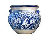 Mexican Talavera Blue Pot — Stock Photo