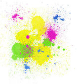 Bright Paint Spatter — Stock Photo