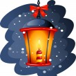Christmas Street Lamp — Stock Vector