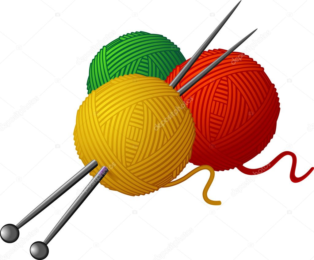 Knitting Needles Clip Art : The gallery for gt knitting needles illustration