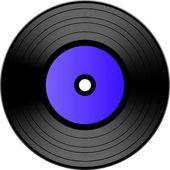 Vector vinyl record — Stock Vector
