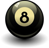 Acht bal — Stockvector