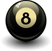 Palla otto — Vettoriale Stock