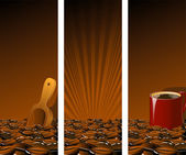 Brown Coffee Banners — Stock Vector
