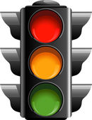 Traffic lights — Vector de stock