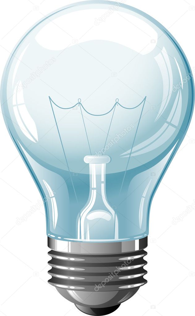 Vector Light Bulb over white. EPS 8, AI, JPEG  Stock Vector #4970359