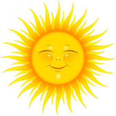 Smiling sun — Vector de stock