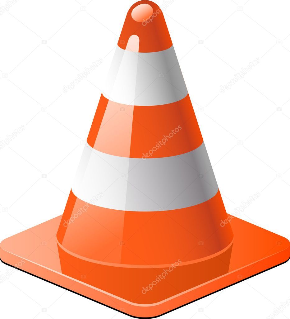 Traffic cone izolated over white. EPS 8, AI, JPEG — Stock Vector #5049318