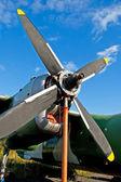 Motor de avião — Foto Stock