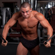 Stock Photo: Bodybuilder exercising