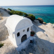 White greek chapel - Stock Photo