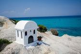 White greek chapel — Stock Photo