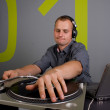 Stock Photo: Dj playing