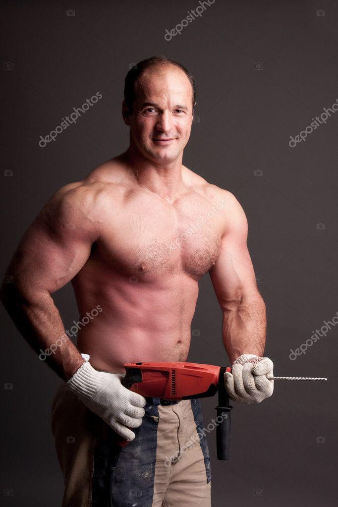 Muscular Construction Worker