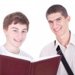 Two smiling male students — Stock Photo #5001048
