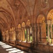 Cloister in Medieval Cathedral - Stock Photo
