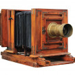 Old wooden camera — Stock Photo