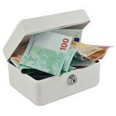 Money box and Euro — Stock Photo