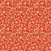 Red and gold Christmas seamless pattern — Stock Vector