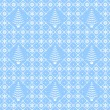 Christmas blue and white seamless pattern — Stock Vector