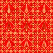 Рождество красный и золотой бесшовные модели — Cтоковый вектор