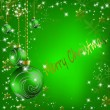 Christmas balls with stars and snowflakes abstract background — Imagen vectorial