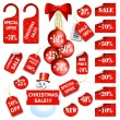 Set of christmas price tags and labels — Stock Vector