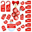 Stock Vector: Set of christmas price tags and labels