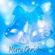 Abstract blue christmas background — Stock Vector