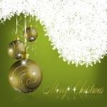 gröna merry christmas gratulationskort — Stockvektor