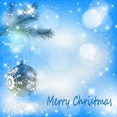 Weihnachtskugel mit sternen und schneeflocken abstrakt — Stockvektor