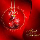 Röd god jul bakgrund — Stockvektor