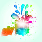 Gift box abstract background — Stock Vector