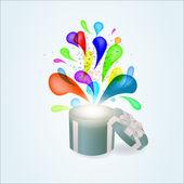 Geschenk-box-abstrakt — Stockvektor
