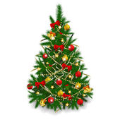 Christmas tree on white background — Stock Vector