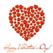 Royalty-Free Stock Vector Image: Abstract heart made of red hearts on white background. Valentine