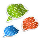 Set of speech bubble stickers — Vector de stock
