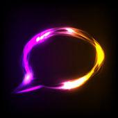 Abstract colorful neon speech bubble — Stock Vector